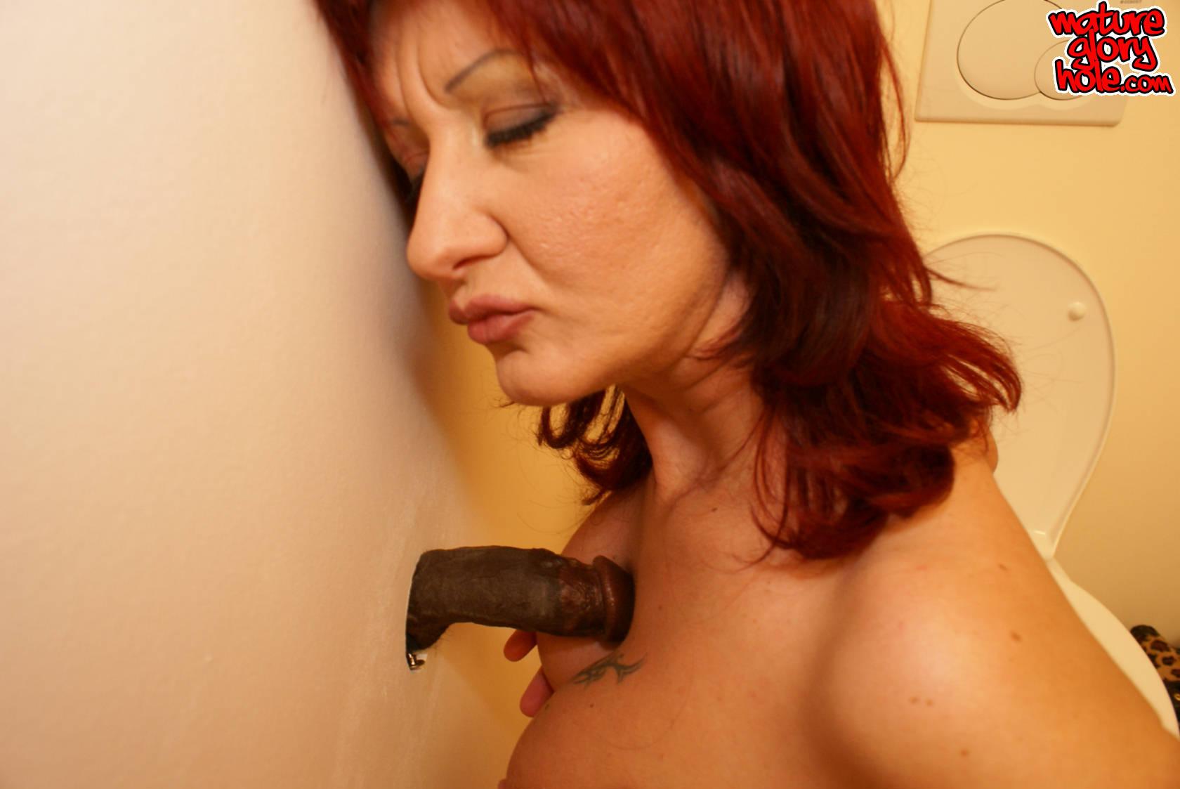 Redhead slut loves sucking mature cock