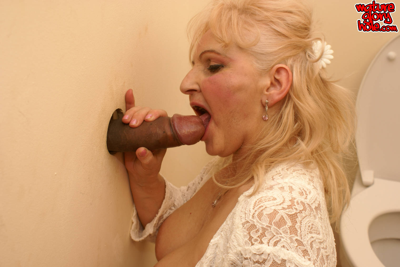 mature glory hole