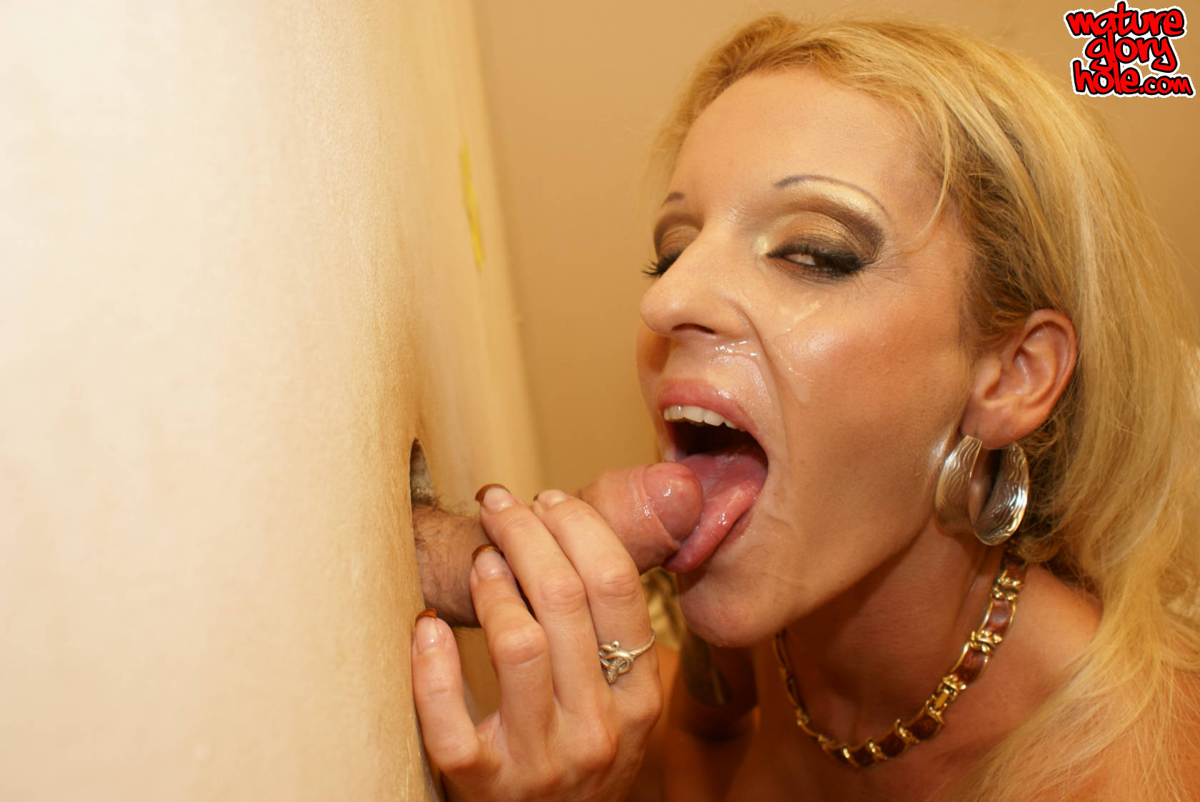Hot Sucking Through The Gloryhole
