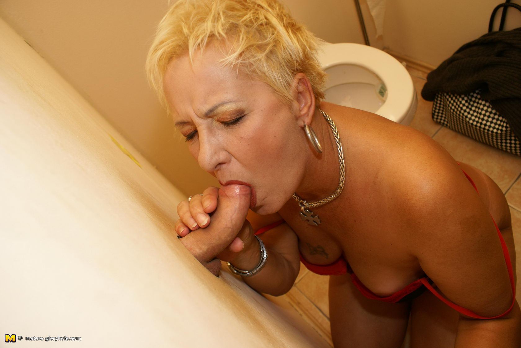 Grandma at gloryhole