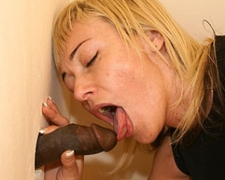 Kinky stuff going on at the mature gloryhole