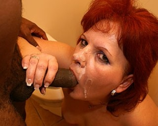 Fuck that mature slut silly on the gloryhole toilet
