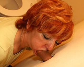 Mature redhead sucking and fucking