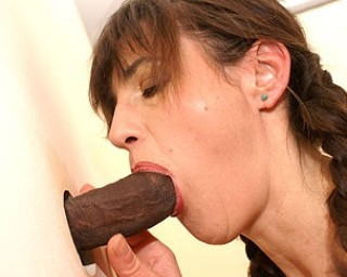 Mature-nl Horny mature slut having fun with the cock coming out of the hole