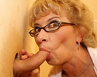 Omaseks This horny mama gets the full load in her face